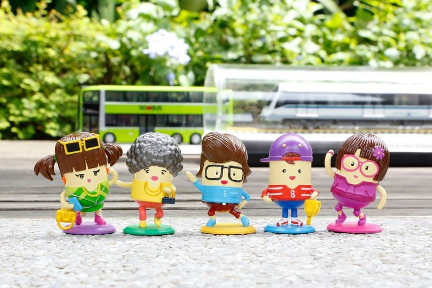 The full set of the mascot mini-figurines that contestants stand a chance to win in the caption competition PHOTO: FACEBOOK/ LAND TRANSPORT AUTHORITY