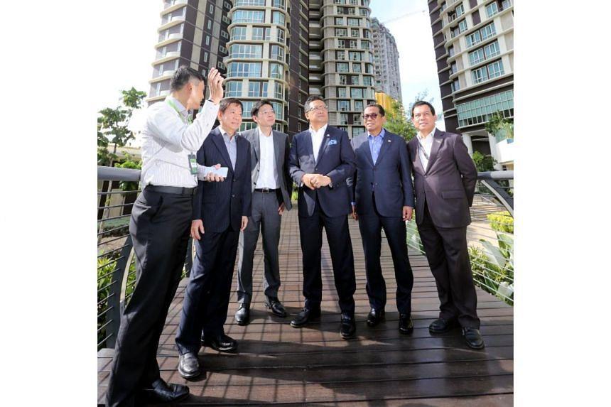 (From left) Minister Khaw Boon Wan, Minister Lawrence Wong, Dato' Seri Abdul Rahman Bin Dahlan, Dato' Mohamed Khaled Bin Nordin and Dato' Ismail Bin Ibrahim at the CIMB Leadership Academy on July 31, 2017.