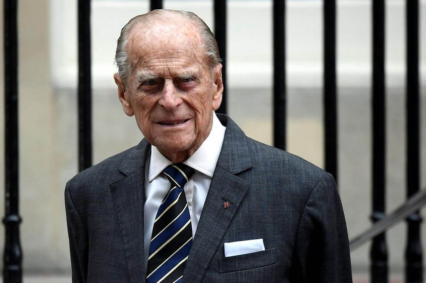 Britain's Prince Philip leaves Canada House in London, Britain, on July 19, 2017.