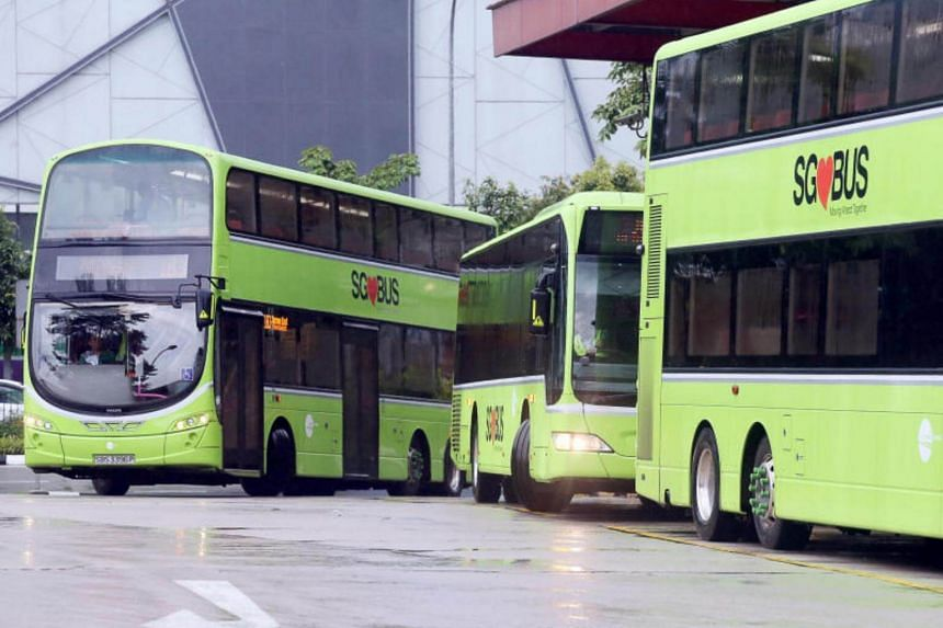 A file photo of Tower Transit buses. A Tower Transit double decker ran into a taxi stand shelter opposite VivoCity on July 31.