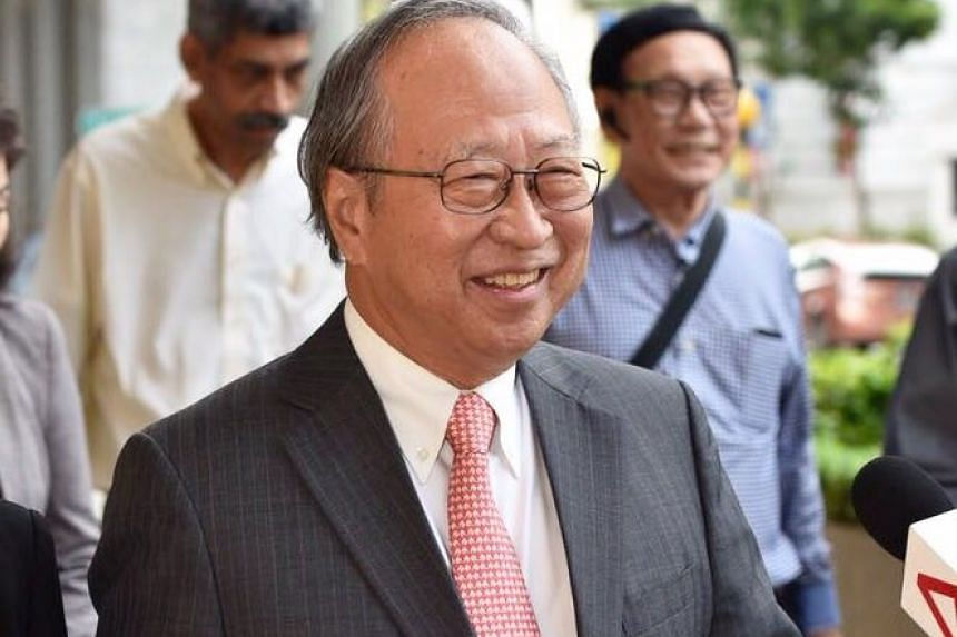 Mr Tan Cheng Bock arriving at the Supreme Court, on July 31, 2017.