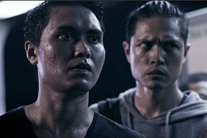 Fir Rahman (right) stars with Jaymeson Olivero (above) in Love In Transit, an original StarHub production.