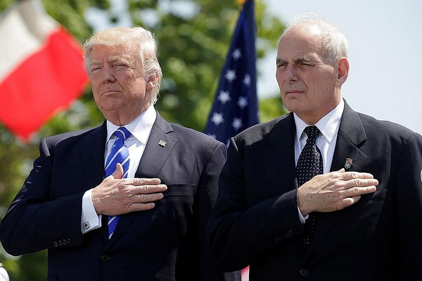 Mr Donald Trump hopes to regain momentum in his presidency with new chief of staff John Kelly, who enters the White House today.