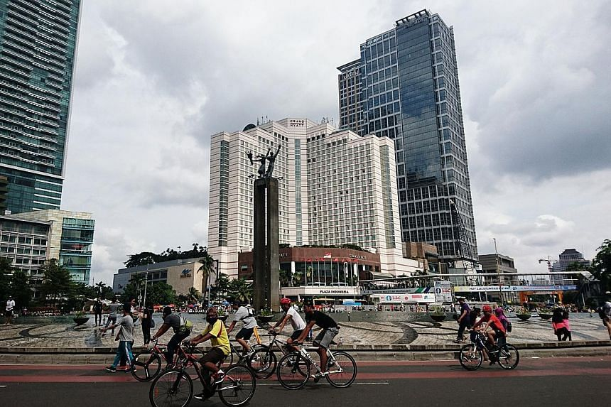 Regulars at Central Jakarta's Car-Free Day, when the main thoroughfares are closed to traffic from 6am to 11am, say they can breathe easy as the sky, sans pollution, reverts to its natural blue hue.