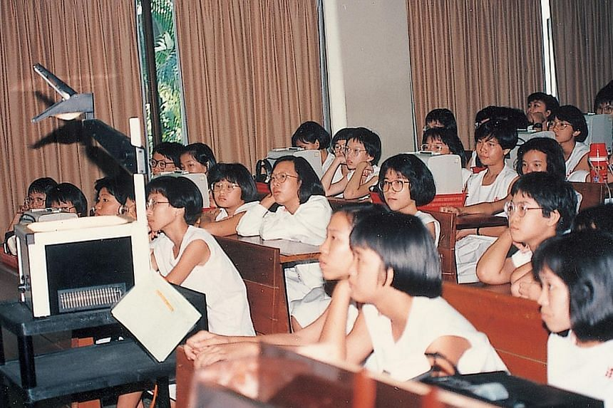 From 1982, all Secondary 1 students were able to use the audio-visual resources for self-directed learning.