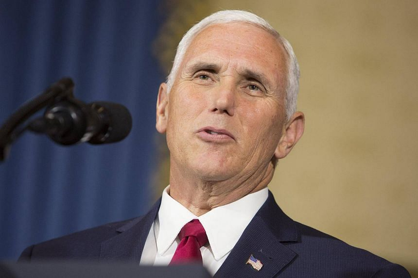 US Vice-President Mike Pence at The White House in Washington, on July 24, 2017.