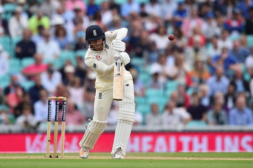 England's Jonny Bairstow bats on the fourth day of the third Test match between England and South Africa at The Oval cricket ground in London on July 30, 2017.