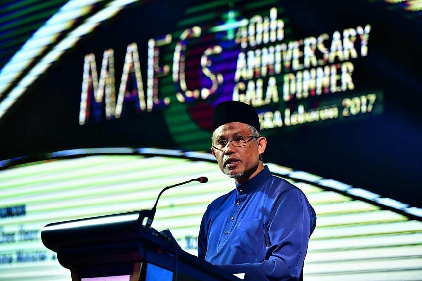 Environment and Water Resources Minister Masagos Zulkifli making his speech at the 40th anniversary gala dinner of the Malay Activity Executive Committees at Orchard Hotel on July 30, 2017.