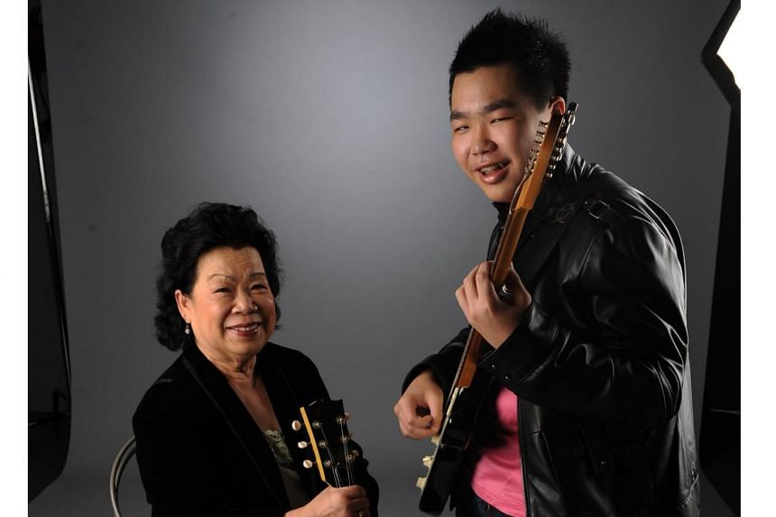 Grandma Ho, seen here with her grandson Bertrand in September 2007.