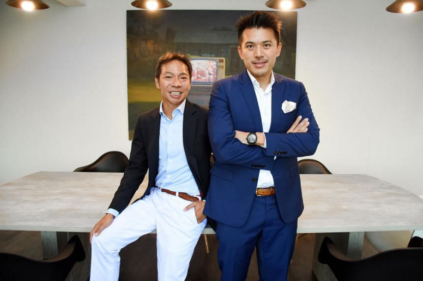 Former investment bankers Terence Loh (left) and Nelson Loh are cousins who co-founded Novena Global Lifecare Group in 2010.