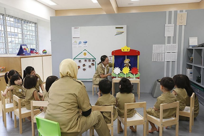 Kindle Garden, touted as the first inclusive pre-school here, is run by charity Awwa. Some parents of children enrolled there have baulked at the fee increase.