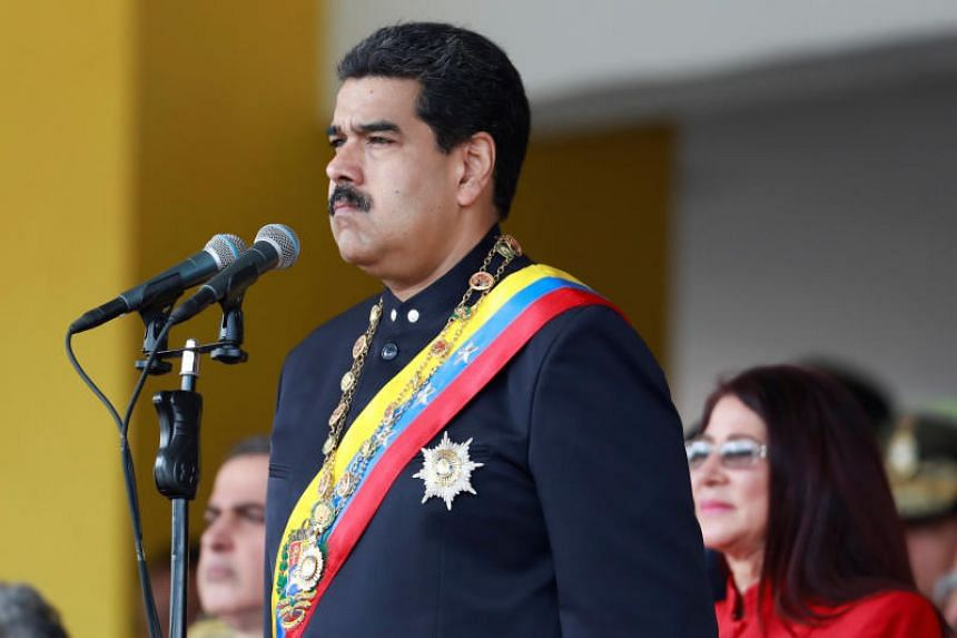Venezuela's President Nicolas Maduro attends a military parade to celebrate Venezuela's independence in Caracas on July 5, 2017.
