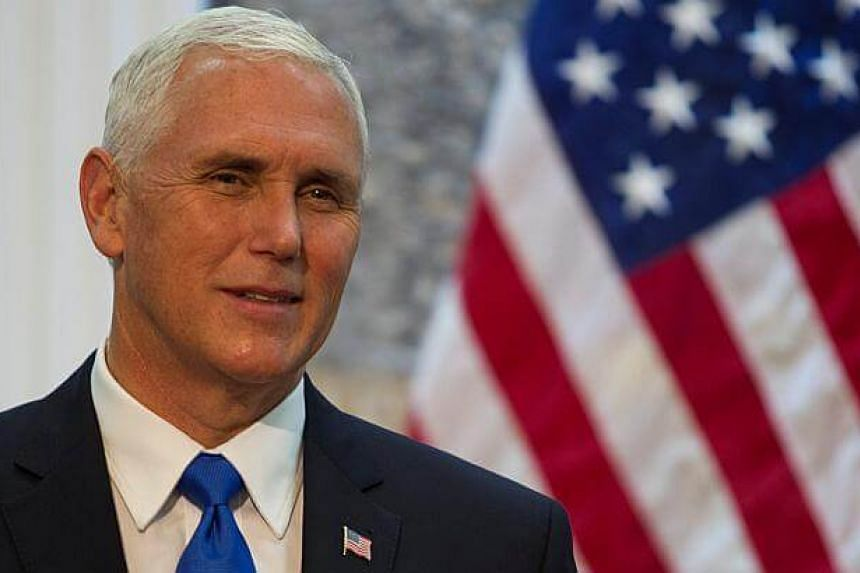 US Vice-President Mike Pence smiles during a press conference ahead of a bilateral meeting in Podgorica, Montenegro on Aug 2, 2017.