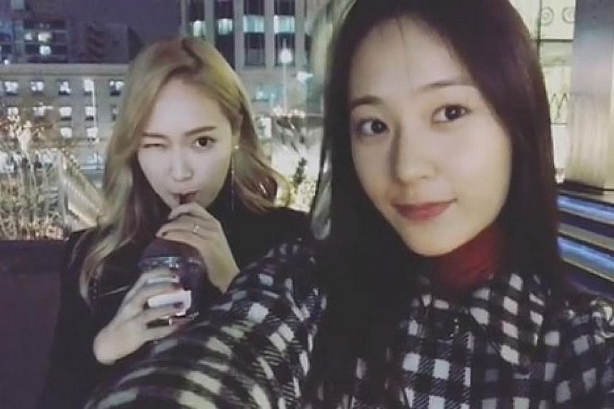 Jessica (above, left) in Girls' Generation and Krystal (above, right).