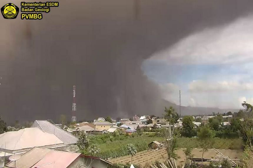 Mount Sinabung had multiple eruptions between 8am and noon on Wednesday (Aug 2).