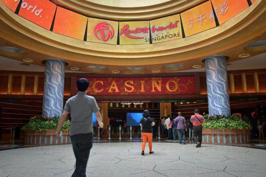 The casino entrance of Resorts World Sentosa.