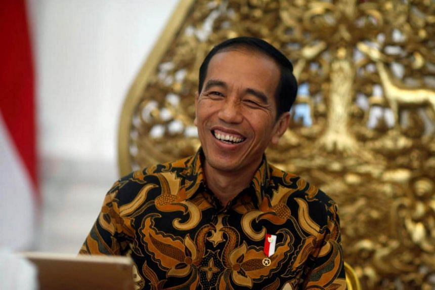 Indonesia's President Joko Widodo during an interview with Reuters in Jakarta, on July 3, 2017.