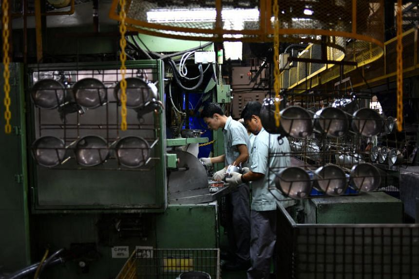 Manufacturing's July reading was lifted by improvements in new domestic and export orders, though a dip in employment in the sector, as well as lower inventory levels weighed on the numbers.