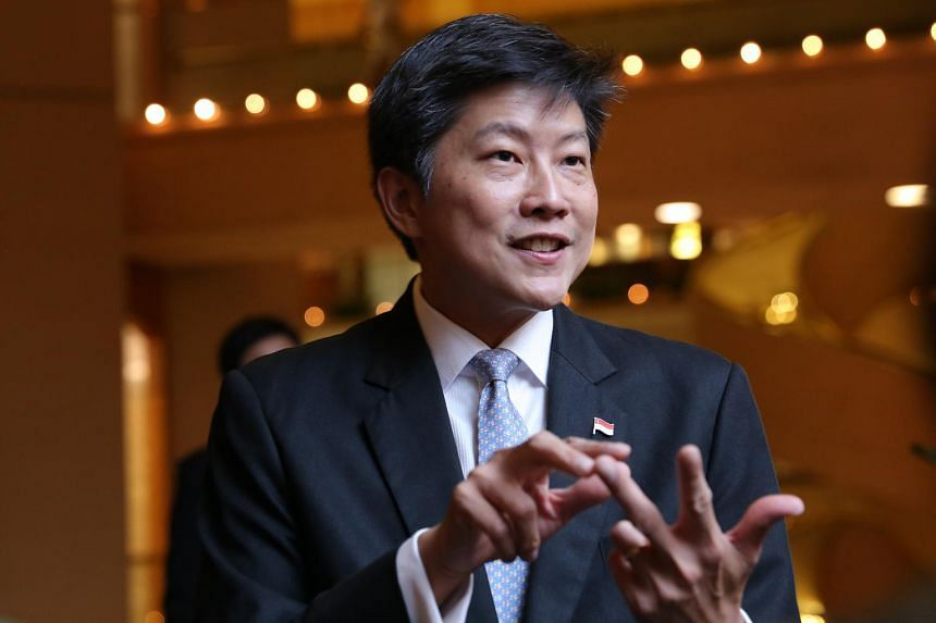 Acting Minister for Education (Schools) Ng Chee Meng speaking at the Leaders in Education Programme (LEP) graduation dinner held at The Regent, on Oct 16, 2015.