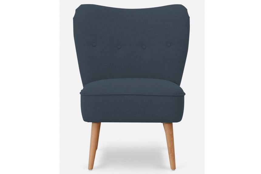 Online furniture store Castlery is giving away three pieces of furniture that it has provided to decorate the ST Lounge at the Singapore Coffee Festival - the Florence Loveseat in Canary Yellow worth $599, (above) the Florence Armchair in Cobalt Blue