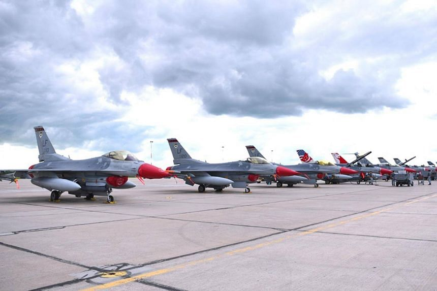 During the three-week exercise F-16D+ fighter jets will conduct air-to-air and air-to-ground training in both day and night conditions.