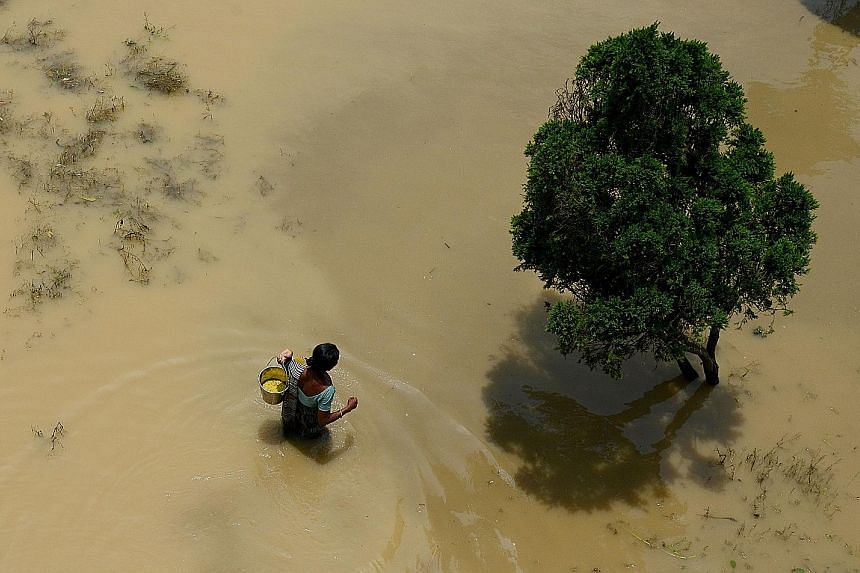 Erratic rain distribution in India has flooded some areas and left others in drought, leading to lower food grain output.