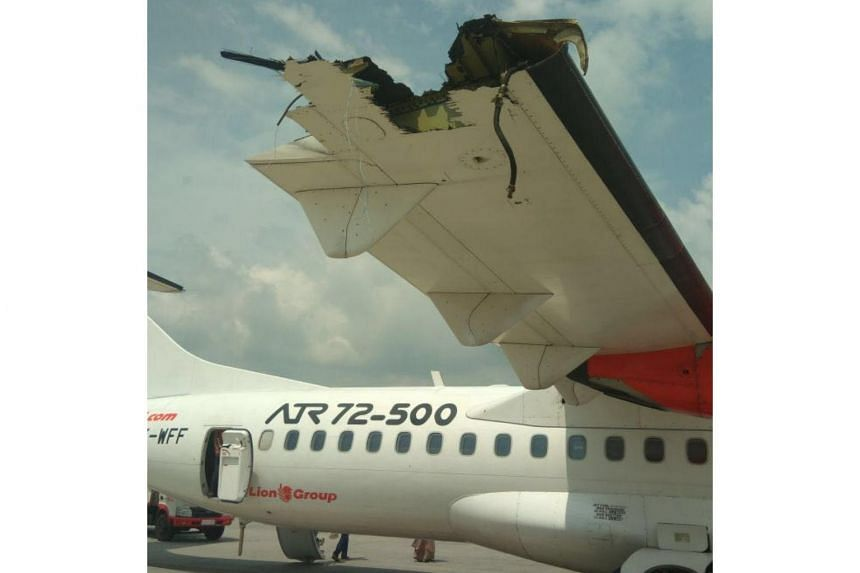 Pictures on social media showed damage to the left wing of the Lion Air plane and the right wing of the Wings Air craft, which are both part of the Lion Group.