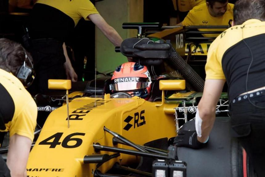 Former F1 driver Robert Kubica preparing for a test session for Team Renault in Hungary on Aug 2, 2017.