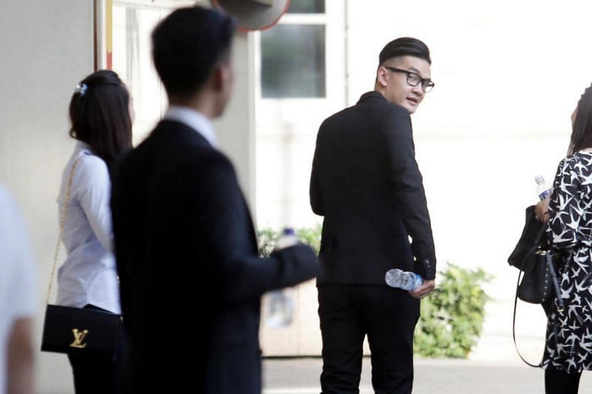 Michael Le (in spectacles), along with Tam Thanh Khong and Vu Thai Son, are on trial for the alleged rape of a 23-year-old woman at a hotel on Sept 10, 2016.