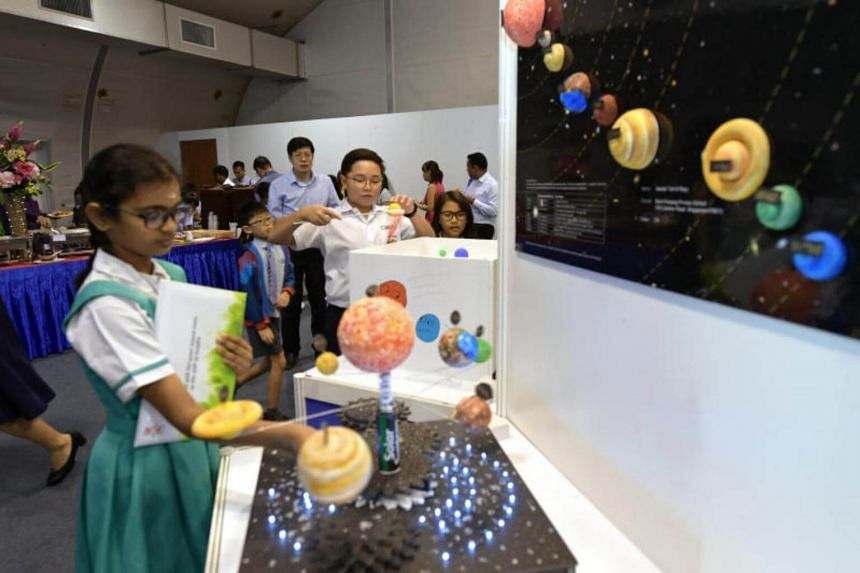 Students exploring toys invented for the 20th Sony Creative Science Award at the Science Centre. The competition encourages toy inventions that utilise science, technology, engineering and mathematics principles.