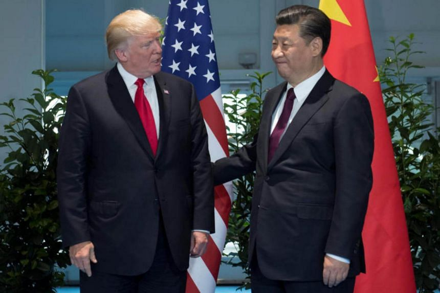 US President Donald Trump and Chinese President Xi Jinping (right) meet on the sidelines of the G20 Summit in Hamburg, Germany on July 8, 2017.