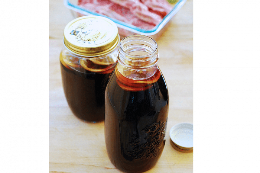 Fresh lemon is added at the end in the preparation of this Korean marinade to keep it fresh for a longer period.