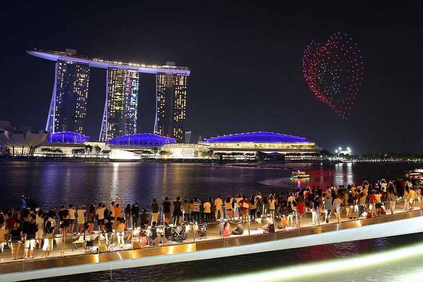 NDP 2017 will feature a drone performance with about 300 drones. The police have prohibited the use of unauthorised flying of unmanned aerial vehicles (UAVs) like drones by the public around The Float@Marina Bay.