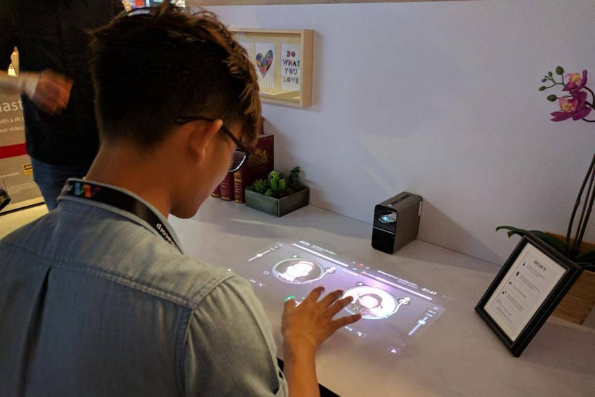 Sony's Xperia Touch is projector that casts a virtual interactive screen onto any surface.
