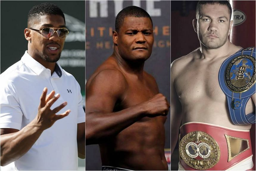 (From left) Anthony Joshua is required to battle against Luis Ortiz and Kubrat Pulev.