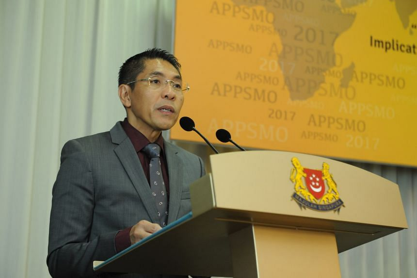 Senior Minister of State for Defence Maliki Osman speaking at the 19th Asia Pacific Programme for Senior Military Officers (Appsmo 2017) at the Village Hotel Changi on Aug 4 2017.