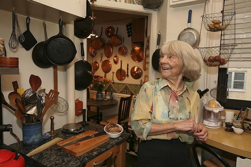 Judith Jones (above) tried Julia Child's recipes before publishing the chef's book.