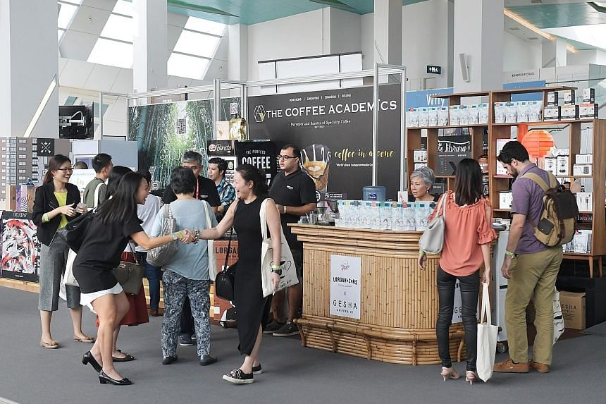 Gryphon Tea is among the exhibitors at this year's event. Festival-goers can also look forward to activities such as talks, workshops and live music at the Singapore Coffee Festival 2017. Left: This year's Singapore Coffee Festival features about 90