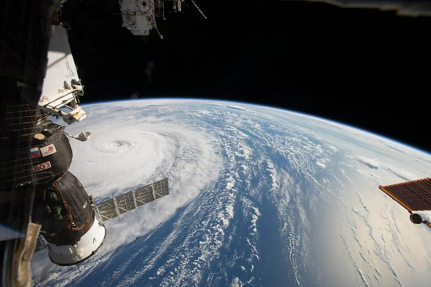 Typhoon Noru in the northern Pacific Ocean in a photo taken from the International Space Station on Aug 1, 2017.