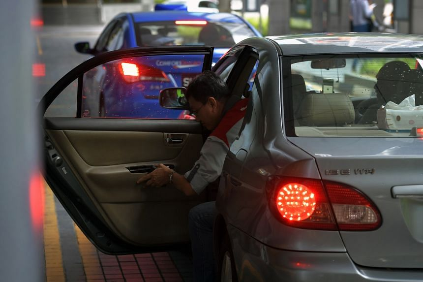 The taxi population in Singapore has fallen since the arrival of ride-hailing apps, including Uber.