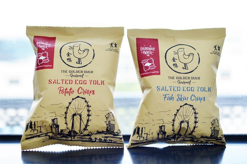 Homegrown snack maker The Golden Duck specially produced 100,000 commemorative packets of their signature salted egg snacks for NDP.