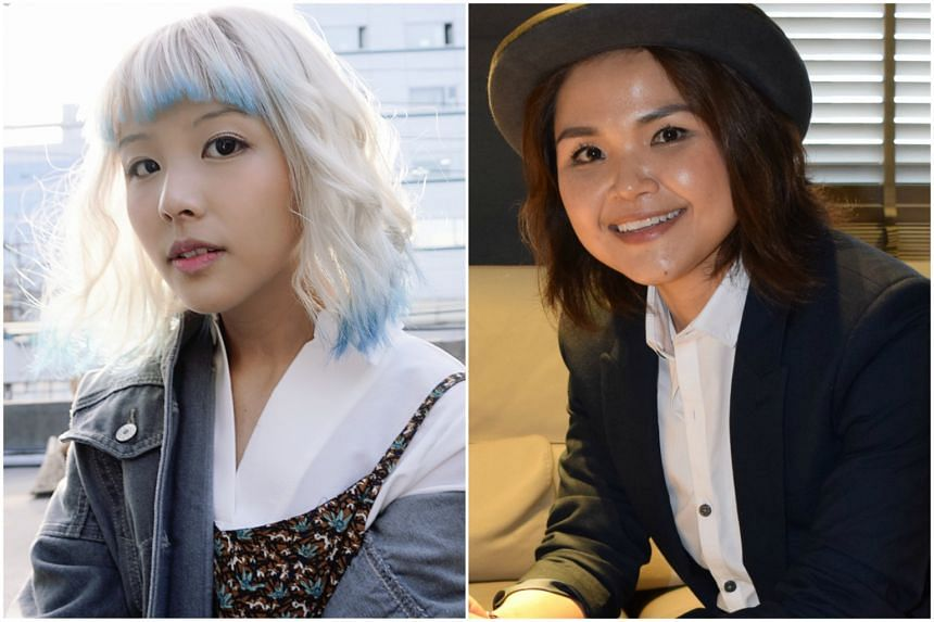 Stella Seah (left) was recruited into Chinese singer Na Ying's team, while singer Olinda Cho picked Taiwanese superstar Jay Chou's team.