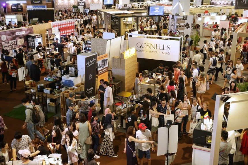 The crowd at the Singapore Coffee Festival on Aug 5, 2017.