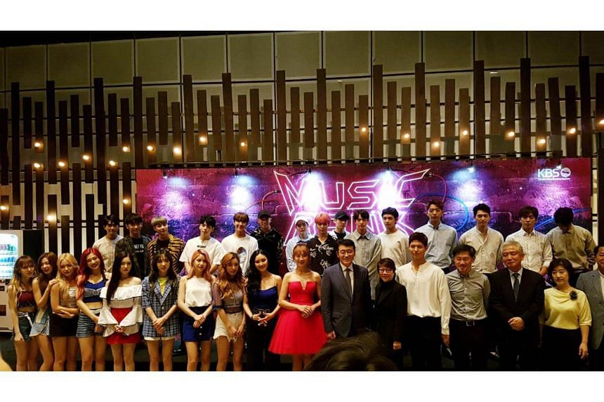 Kpop acts at the VIP reception before the show.
