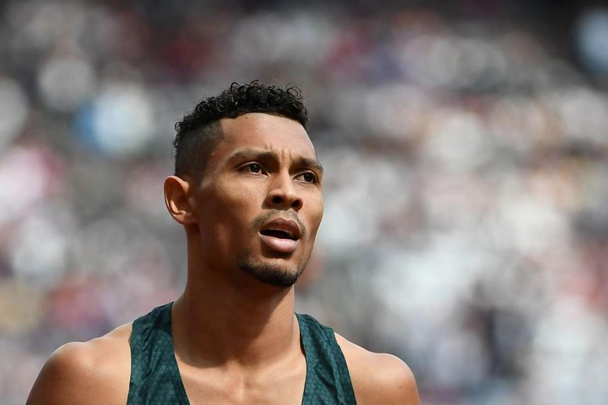 South Africa's Wayde Van Niekerk finishes a heat of the men's 400m athletics event during the 2017 IAAF World Championships at the London Stadium in London, on Aug 5, 2017.