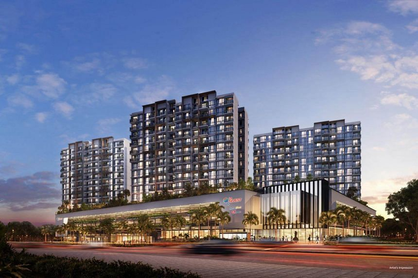 Le Quest comprises 516 studio and one- to four-bedroom units and over 6,000 square metres of commercial space.