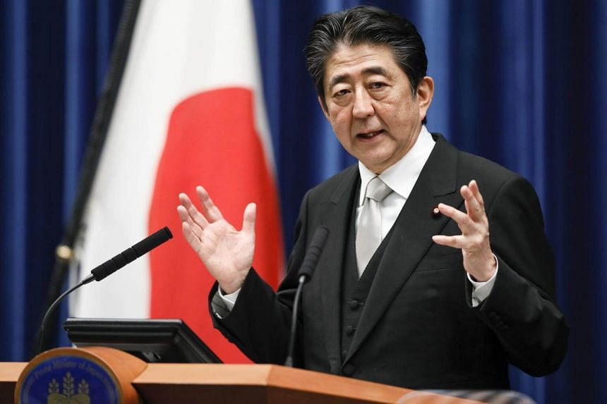 Japanese Prime Minister Shinzo Abe speaks during a press conference in Tokyo, Japan, on Aug 3, 2017.
