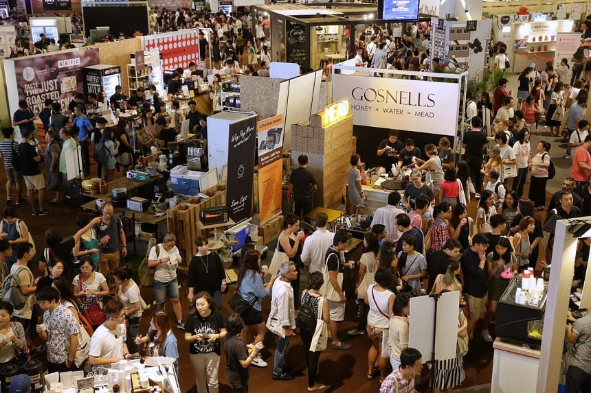 Visitors at the Singapore Coffee Festival at Marina Bay Cruise Centre, on Aug 5, 2017.