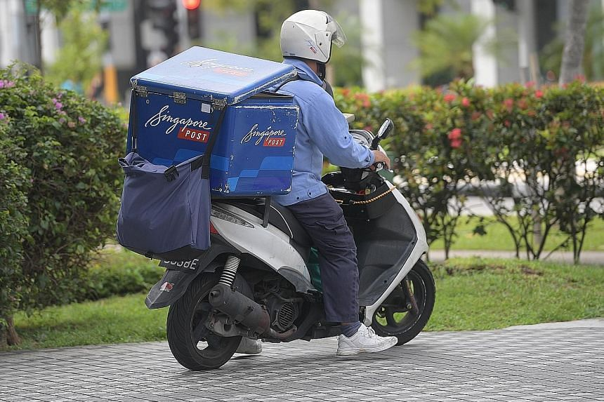 SingPost saw postal revenue rise by 9.3 per cent thanks to strong international mail growth, but domestic mail revenue declined as more organisations switched to electronic statements. An interim dividend of 0.5 cent per share was declared.