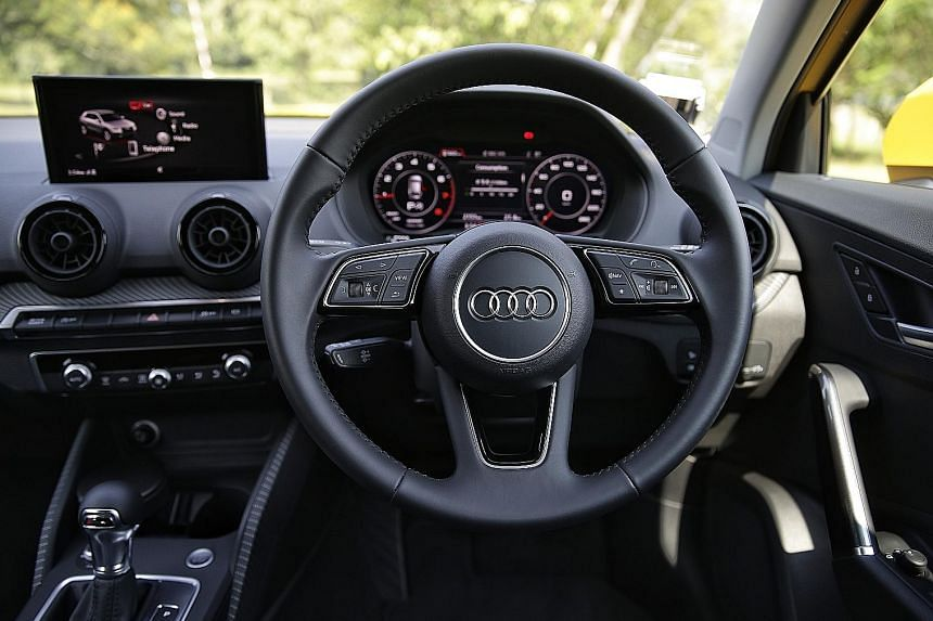 The Audi Q2 1.0 has quick steering and is as manoeuvrable as a small hatchback.